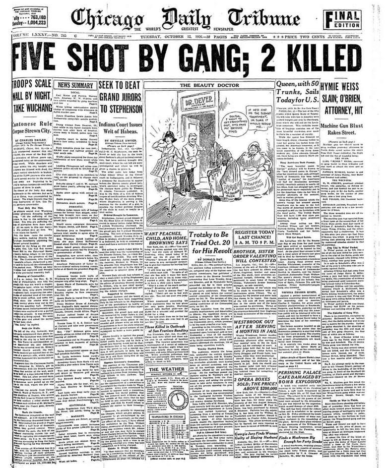 Wojna gangów w Chicago. Polski mafioso zastrzelony przez ludzi Ala Capone