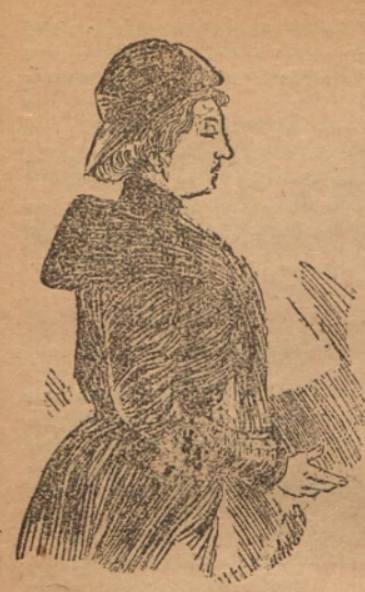 Rysunek przedstawiający Zofię Zajączkowską