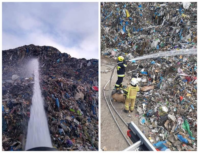 Studzianki. Pożar sortowni odpadów. Płonie druga hałda śmieci [24.11.2019]