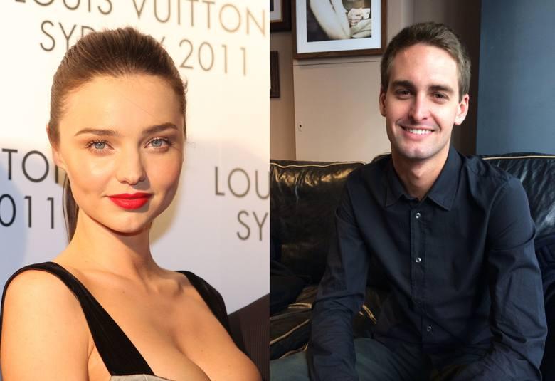 Miranda Kerr i Evan Spiegel Znana modelka i amerykański miliarder, założyciel Snapchata, poznali się w 2014 roku na kolacji zorganizowanej przez dom