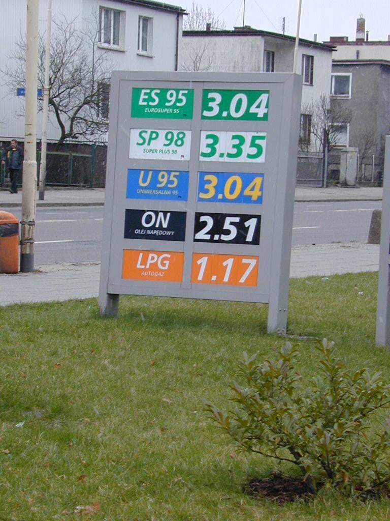 Ceny na stacjach benzynowych ustala się odgórnie.  W Stargardzie jednak są one najwyższe.