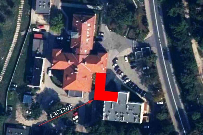 Szpital powiatowy w Kluczborku. Tutaj powstanie łącznik.