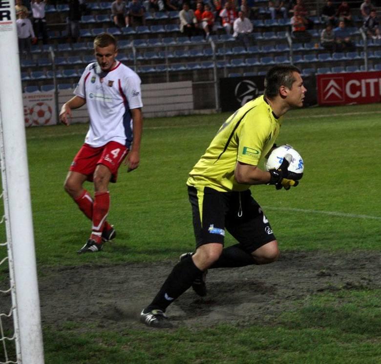 I liga pilki noznej - Odra Opole-Zaglebie Lubin 0-3.