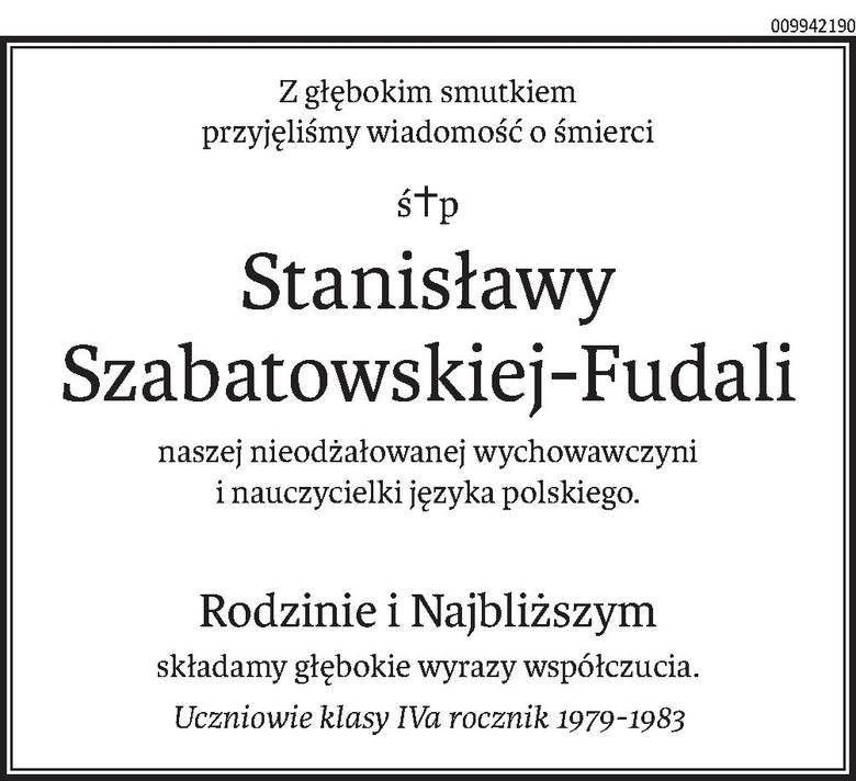 Nekrologi i kondolencje z dnia 10 listopada 2020 r.