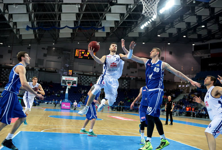 Paweł Kikowski (z piłką) solidnie zaprezentował się podczas turnieju we Włocławku.