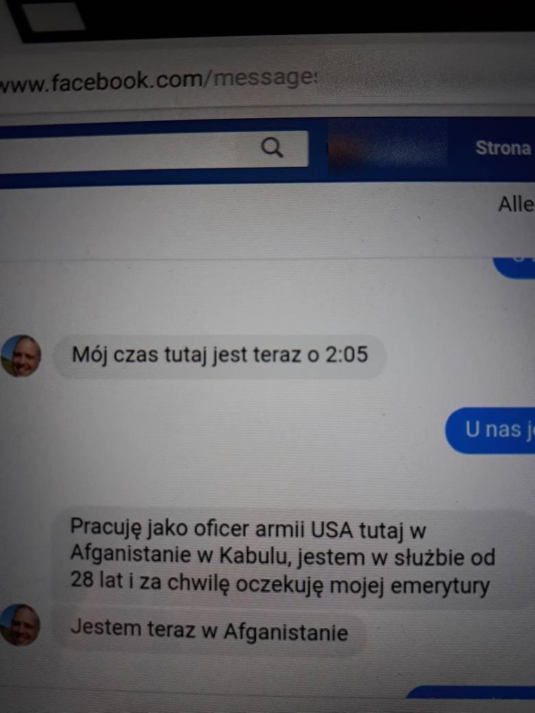Screeny od Czytelniczki z rozmowy z amerykańskim żołnierzem.