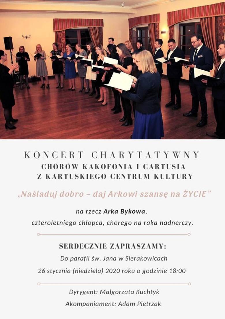 W Sierakowicach zagrają koncert charytatywny dla 4-letniego Arka, chorego na raka