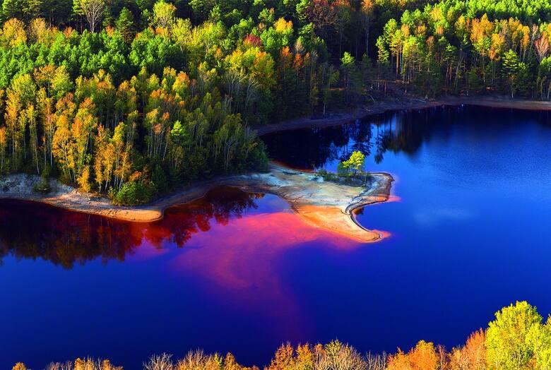Najpiękniejsze odsłony leśnych zbiorników pokopalnianych.