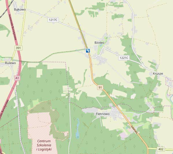 Miejscowość: BzowoGmina: DragaczDroga: DK 91Dozwolona prędkość: od 5 do 22:59 - 50 km/h, od 23 do 4:59 - 60 km/h