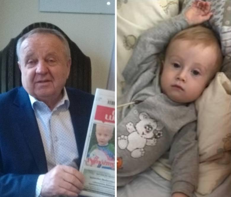 Senator Władysław Komarnicki brakujące pieniądze na leczenie Kubusia Śmiejewskiego chce zebrać od przedsiębiorców