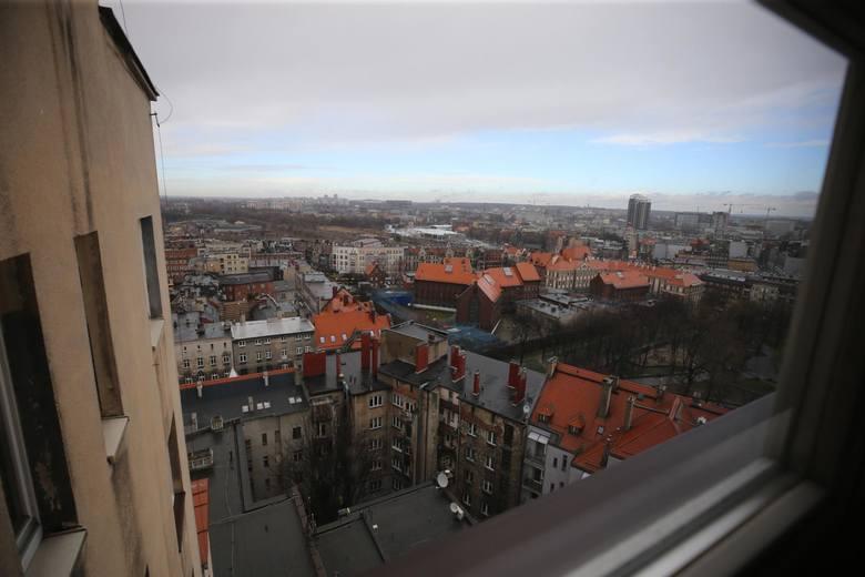 Widok z ostatniego piętra Drapacza Chmur na Katowice