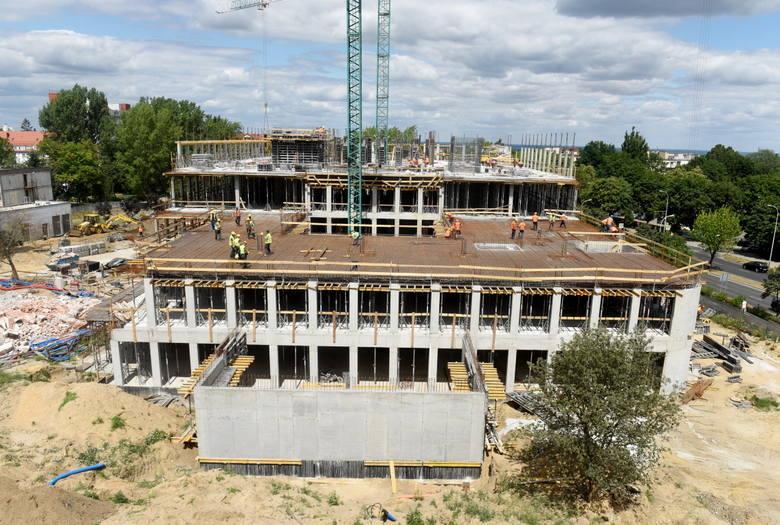 Trwa budowa Centrum Zdrowia Matki i Dziecka w Zielonej Górze - stan robót z 3 lipca 2019 roku