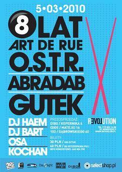 OSTR, Abradab i Gutek na urodzinach Art de Rue w klubie Revolution w Rzeszowie
