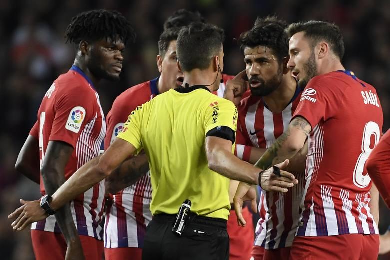 Diego Costa został wyrzucony z boiska w 28. minucie.
