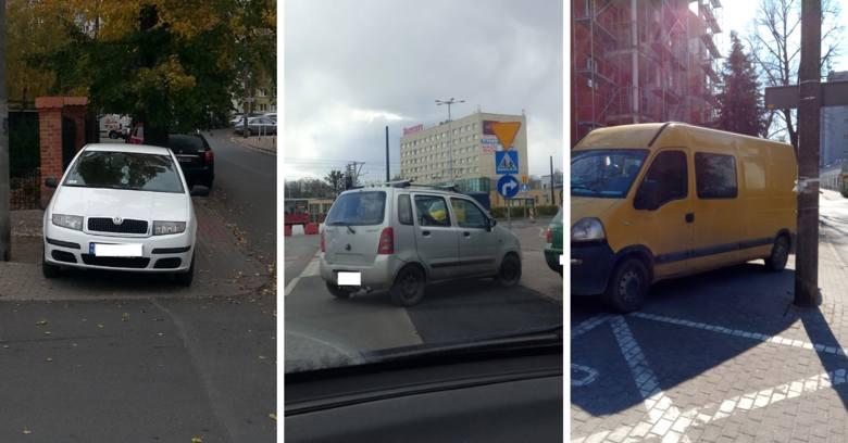 """Zobaczcie naszą najnowszą galerię """"mistrzów parkowania"""" z Torunia. Oto pojazdy osób, które parkują gdzie popadnie. Dla nich inni się"""