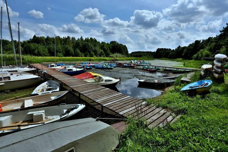 Zalew Sulejowski wysycha. Susza w województwie łódzkim w 2019 roku spowodował, że wskaźnik wody na tamie w Smardzewicach pokazuje coraz niższy poziom