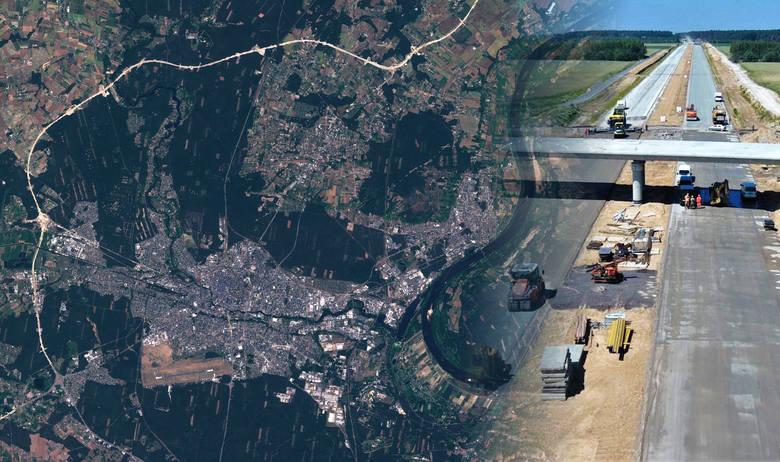 Trwa budowa S5 w regionie. Część trasy będzie stanowić obwodnicę Bydgoszczy. Na zdjęciach satelitarnych Europejskiej Agencji Kosmicznej (satelita Sentinel