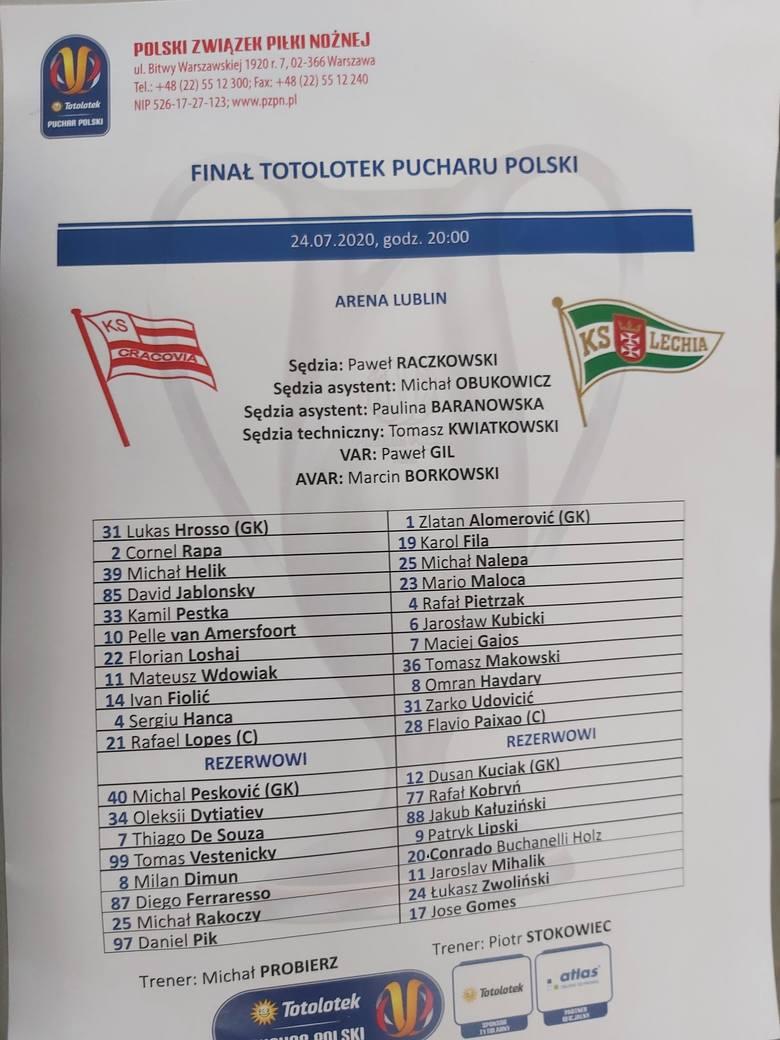 Finał Totolotek Pucharu Polski na Arenie Lublin. Cracovia - Lechia (RELACJA NA ŻYWO)
