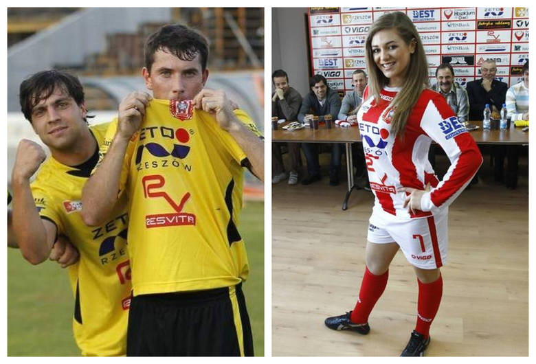 Jak wyglądały koszulki piłkarzy Resovii w ostatnich kilkunastu latach? Niektóre były tradycyjne - pasiaste - ale zdarzały się też zielone, żółte i czarne