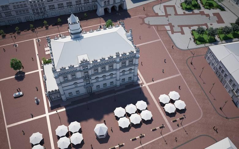 Rusza modernizacja płyty rynku w Jarosławiu. Mieszkańcy martwią się o brak zieleni po remoncie, ratusz uspokaja [WIZUALIZACJE]