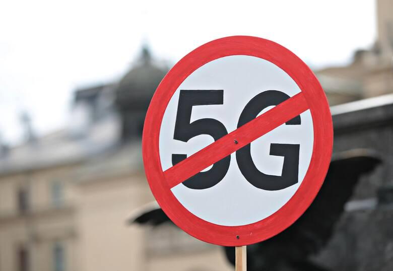 Protesty przeciwko technologii 5G odbyły się w kilku miastach w kraju
