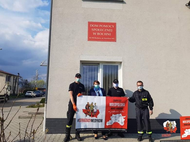 Strażacy z podkrakowskich gmin pospieszyli z ratunkiem dla Domu Pomocy Społecznej w Bochni