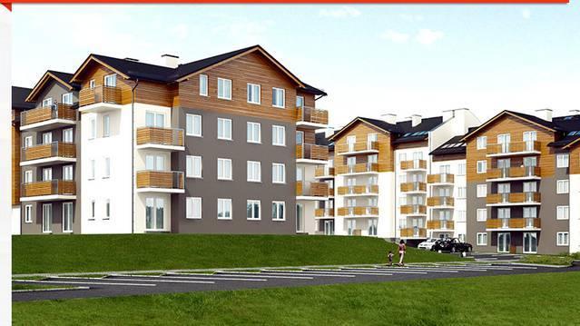 """Osiedle Cztery Pory Roku, ul. Bielska Modne osiedle, ładna architektura, mieszkańcy określają je przymiotnikiem """"urokliwe"""". Mieszkania"""