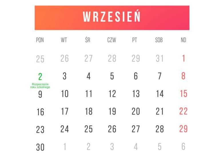 Kalendarz roku szkolnego 2019/2020 HARMONOGRAM Kiedy ferie zimowe 2020, święta, dni wolne? [12.09.2019 r.]
