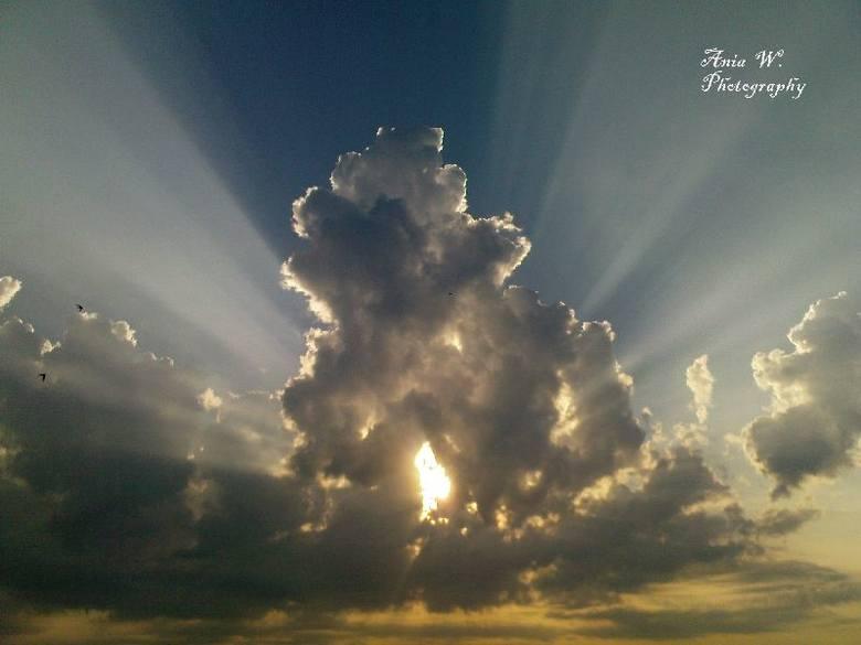 Wschód slonca nad Sokólką. Niesamowite niebo