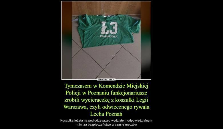 Sprawa koszulki na poznańskiej komendzie stała się na tyle głośna, że pojawił się nawet demotywator na jej temat.