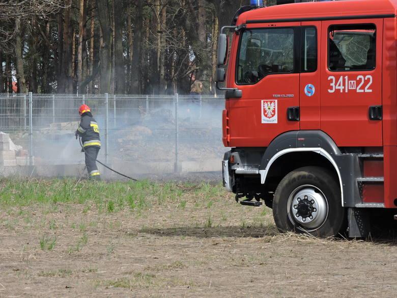 Pożar przy kościele pw. św. Franciszka w Ostrołęce. Ogień przeniósł się za ogrodzenie [ZDJĘCIA, WIDEO]