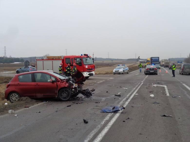 Rutki Kossaki. Wypadek na drodze krajowej nr 8 (zdjęcia)