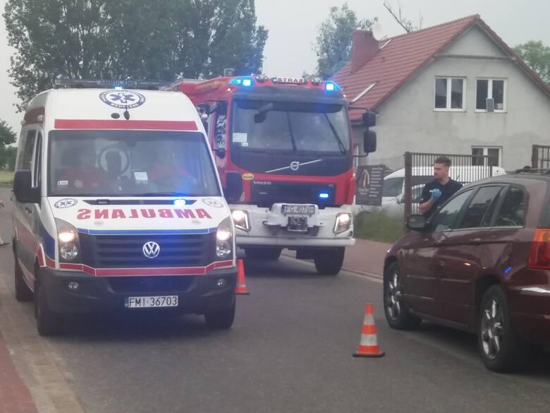 Wypadek na rogatkach wsi Św. Wojciech