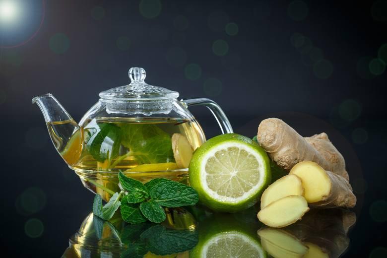 Herbata z imbirem to połączenie wspomagające produkcję ciepła w organizmie, a dzięki temu również spalanie kalorii