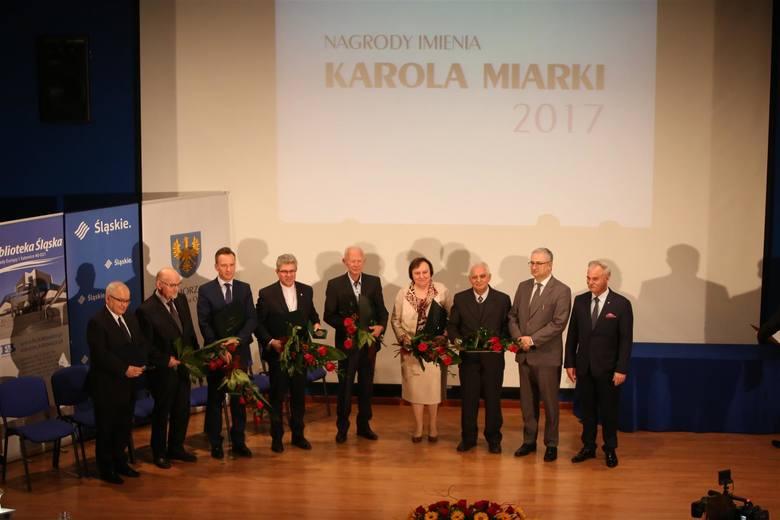 Uroczystość wręczenia Nagrody im. Karola Miarki w Bibliotece Śląskiej w Katowicach.