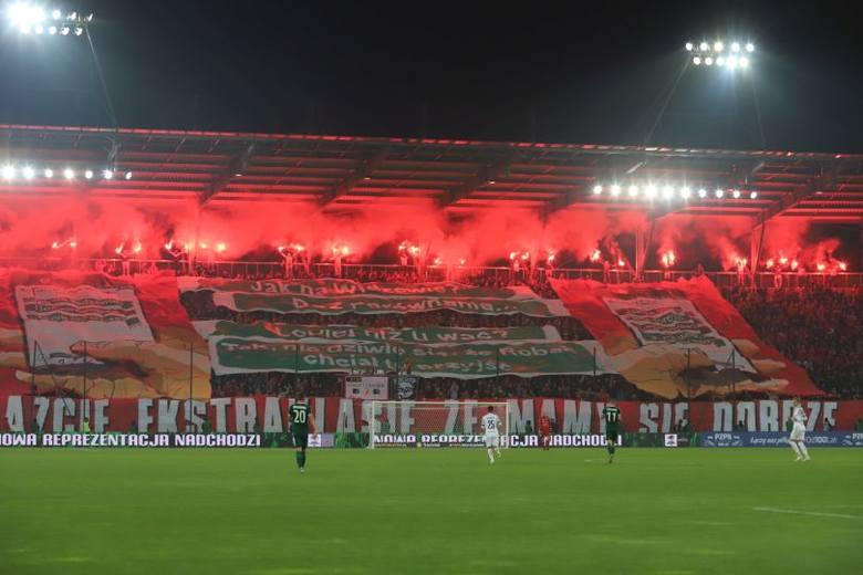 Widzew Łódź Śląsk Wrocław. Kibice na meczu Widzew Śląsk ZDJĘCIA