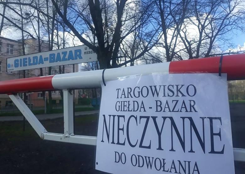 Targowisko Giełda-Bazar w Inworocławiu nieczynne
