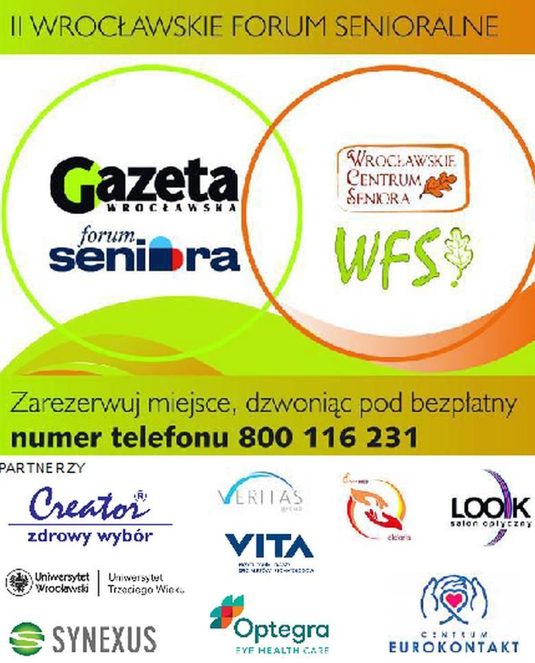Zapraszamy na II Wrocławskie Forum Senioralne, które odbędzie się we wtorek 29 maja