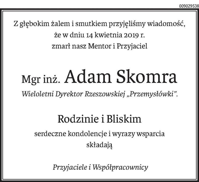 Nekrologi i kondolencje z dnia 16 kwietnia 2019 roku