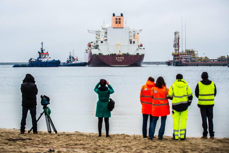 Wyczarterowany przez Qatargas statek typu Q-flex, pod nazwą Al-Nuaman, dostarczył 210 tys. m sześc. gazu do nowo wybudowanego terminalu LNG w Świnou