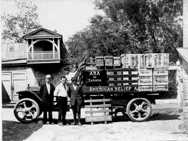 Ciężarówka ARA w Samarze