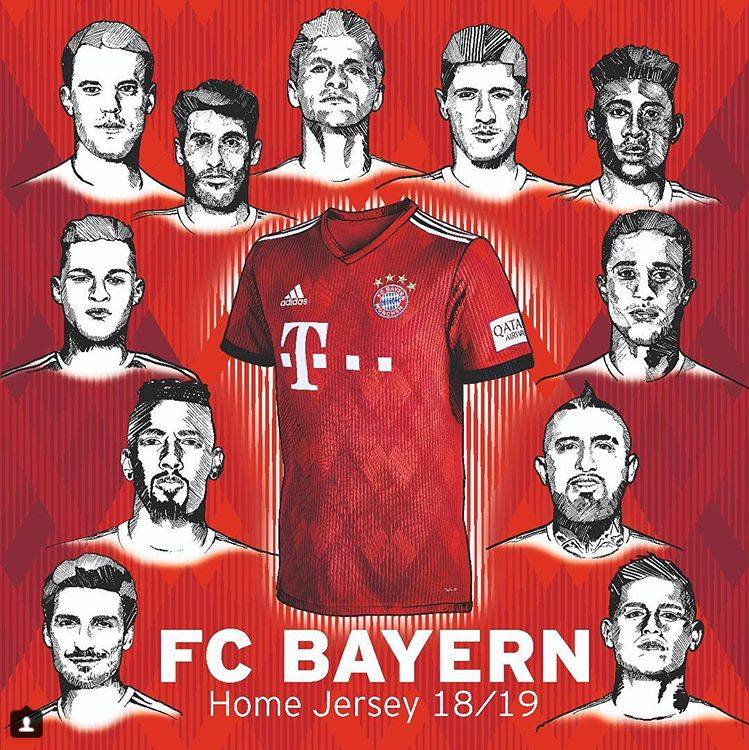 Bayern Monachium zaprezentował nowe koszulki na sezon 2018/19. Jak w przyszłym sezonie będzie prezentował się na boisku Robert Lewandowski oraz jego