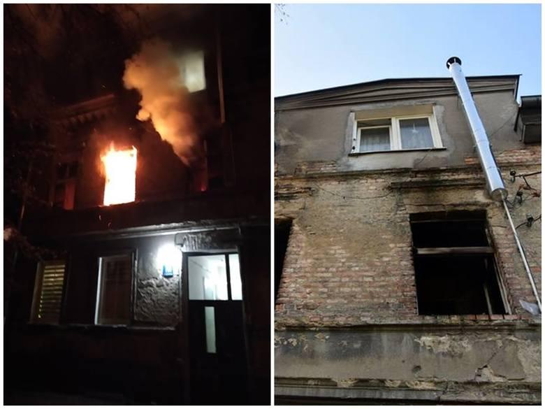 Pożar przy ul. Wojska Polskiego w Stargardzie. W budynku nie ma prądu. Dwa mieszkania zalane [ZDJĘCIA]