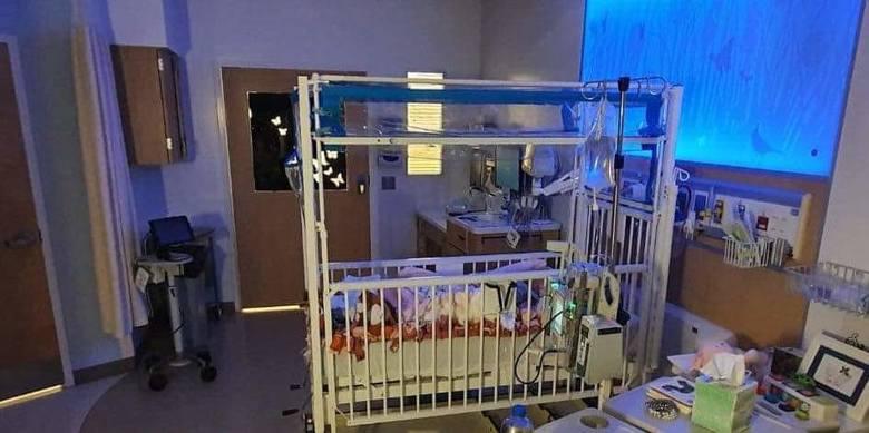 Hania w szpitalu w Stanach Zjednoczonych.