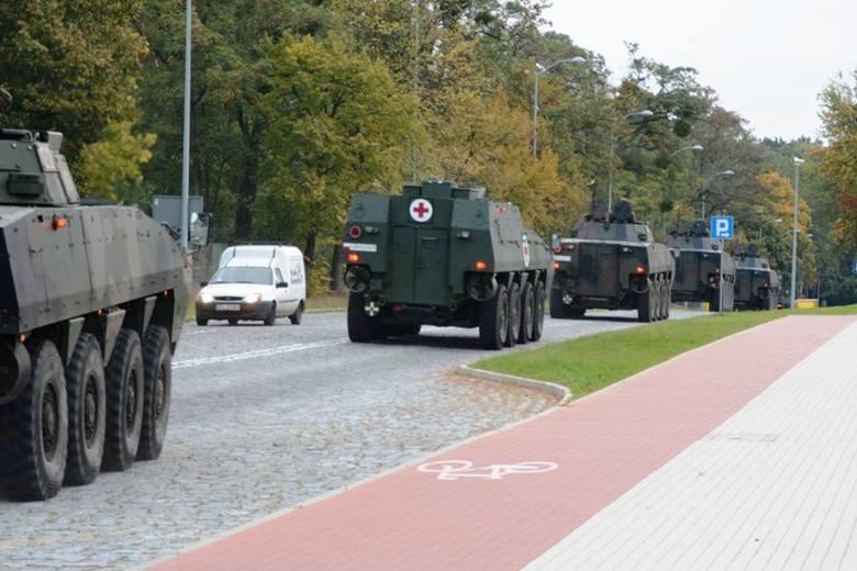 Rosomaki na ulicach Szczecina. Widowiskowe ćwiczenia [zdjęcia]