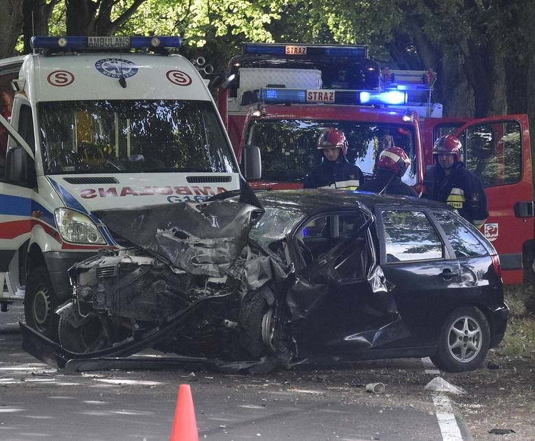 Dzisiaj (sobota, 14.07) przed godziną 17 doszło do wypadku na drodze powiatowej między Miastkiem i Świeszynem. Kierujący seatem uderzył w drzewo. Auto