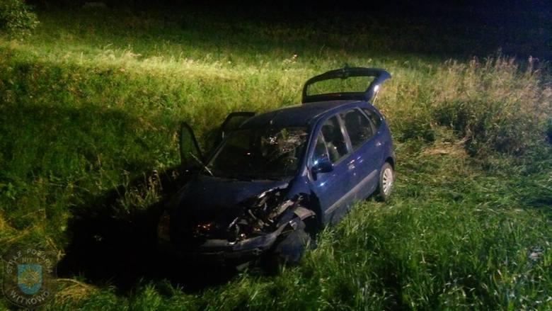 Wypadek na trasie Witkowo - Gniezno. Zderzyły się 3 auta. 8 osób rannych