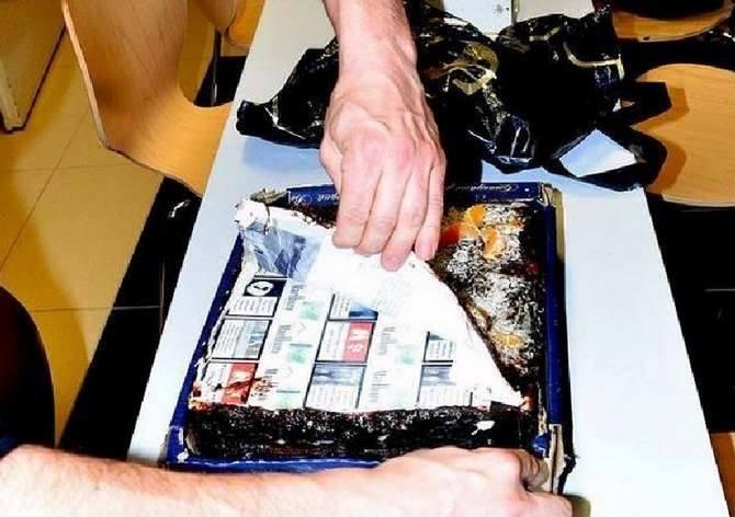 Przemyt w torcie, ujawniony przez funkcjonariuszy Bieszczadzkiego Oddziału Straży Granicznej.