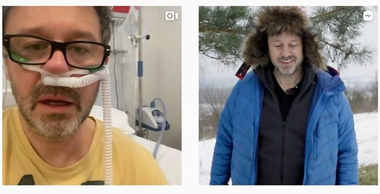 Andrzej Piaseczny zamieścił na swoim Instagramie poruszające wideo nagrane w szpitalnej sali.