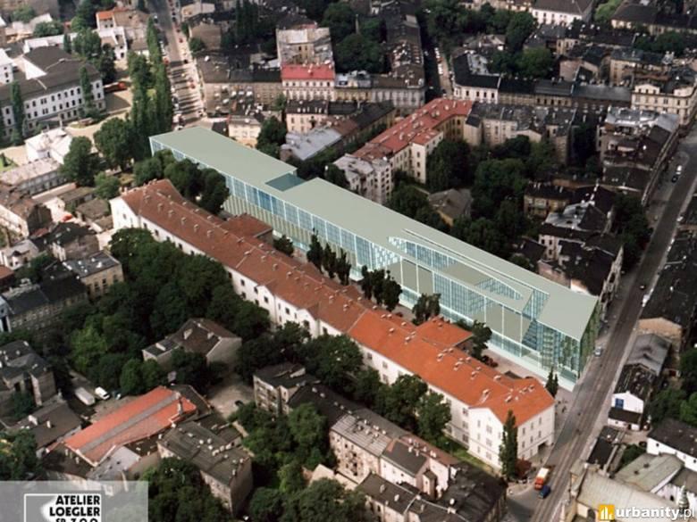 Jedną z pierwszych koncepcji zagospodarowania działki był hotel. Na wizualizacjach Hilton Garden Inn. Hotel miał stanąć na całej długości działki, od